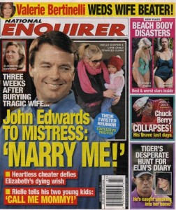 John Edwards & Rielle Hunter on National Enquirer Cover
