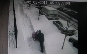 Snow shovel thief