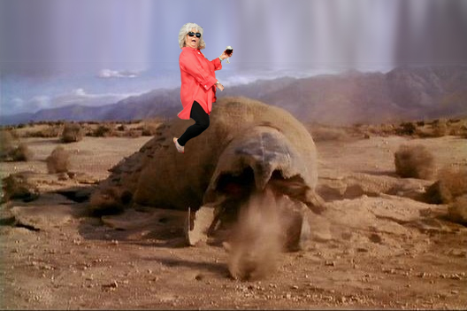 Paula Deen Riding a Tremor