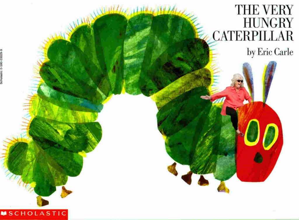 Paula Deen Riding The Very Hungry Caterpillar