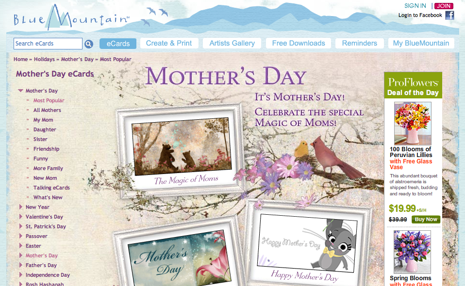 Blue Mountain Mother's Day Cards