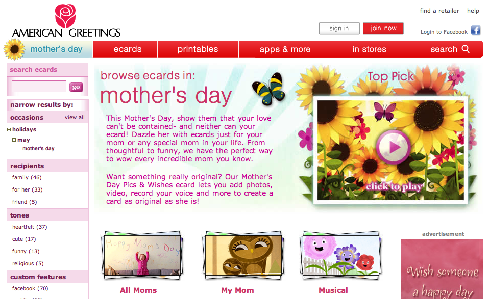 American Greetings Mother's Day Cards