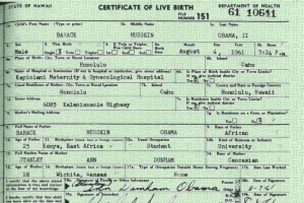 Barack Obama Releases Long Form Birth Certificate