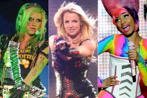 Ke$ha, Britney Spears and Nicki Minaj