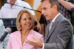 Katie Couric and Matt Lauer