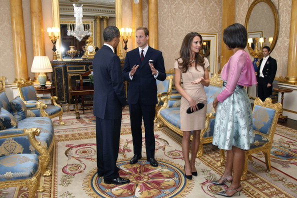 Barack and Michelle Obama with Prince William and Kate Middleton