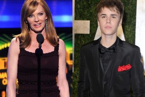 Marg Helgenberger and Justin Bieber