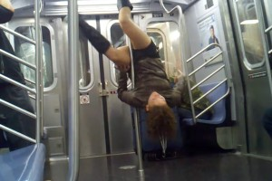 Subway Pole Dancing